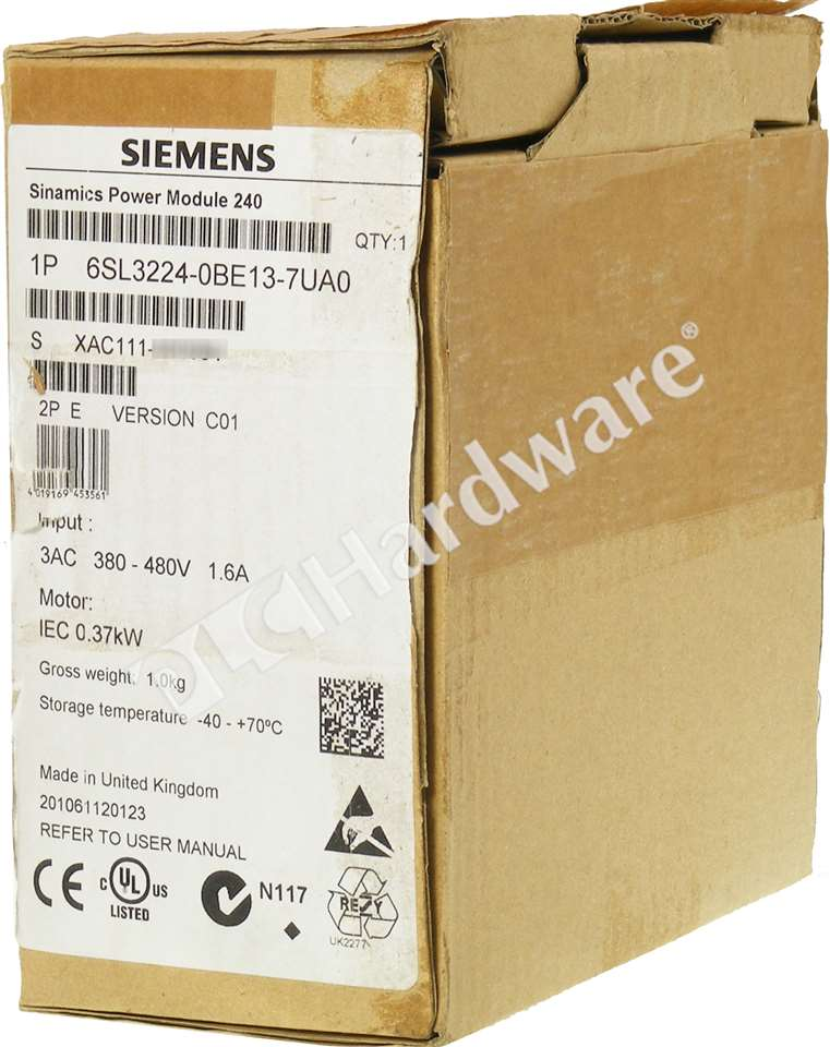 New Siemens 6SL3224-0BE13-7UA0 6SL3 224-0BE13-7UA0 SINAMICS G120 Power Module